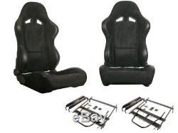 1 paire pliable sièges Sport alcantara noir pour BMW MINI R53
