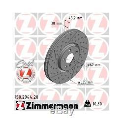 2 Disque de frein ZIMMERMANN 150.2944.20 COAT Z convient à BMW