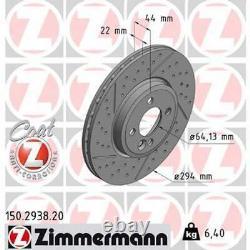 2 X Disque de Frein ZIMMERMANN (150.2938.20)