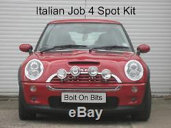 4 Italien Job Chrome Lampe Spot Kit BMW Mini à 2006 Inclus Fixation & Câblage