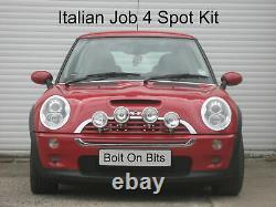 4 Italien Job Chrome Spot Feux Kit BMW Mini À 2006 Inclus Fixation & Câblage