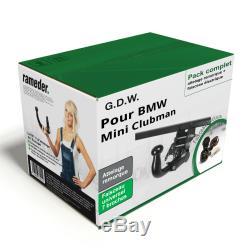 Attelage pour BMW Mini Clubman 15- Amovible G. D. W. + Faisceau u. 7 broches TOP