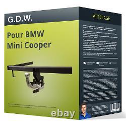 Attelage pour BMW Mini Cooper type R50 démontable sans outil G. D. W. NEUF TOP AAA