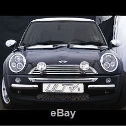 BMW MINI 2001-2006 R50/52/53 PAIRE Noir PROJECTEUR yeux d'ange conduit Halo
