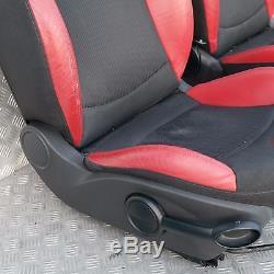BMW MINI COOPER 1 R56 Sport demi cuir rouge intérieurs sièges avec airbag