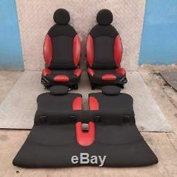 BMW MINI COOPER ONE 2 R56 Sport demi cuir rouge intérieurs sièges avec airbag