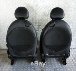 BMW Mini Cooper One R56 Sports Complet Cuir Noir Intérieur Siège avec Airbag