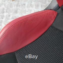 BMW Mini Cooper One R56 Sports Demi Cuir Rouge Intérieur Siège avec Airbag