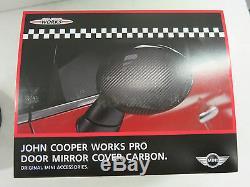 BMW Mini Neuf D'Origine Rhd John Cooper Works Carbone Coque Miroir Rétroviseur