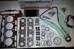 BMW Mini One & Cooper R56 R57 R58 1.6 Tête Joint Set Boulons & Timing Chaîne Kit