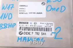 BMW Mini One D W17 1ND 88HP Moteur ECU Kit Dde + Ews + Clé + Bcm 7792544 Manuel