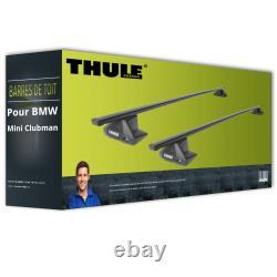 Barres de toit acier pour BMW Mini Clubman type F54 Thule SquareBar TOP