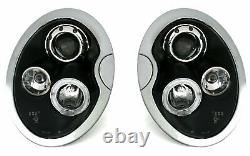 Hlavný svetlomet pour BMW pour Mini COOPER R50 R52 R53 01-06 Angel Eyes Black LP