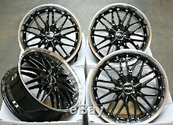 Jantes en Alliage X4 18 Noir 190 pour 4X100 BMW Mini R50 R52 R55 R56 R57 R58