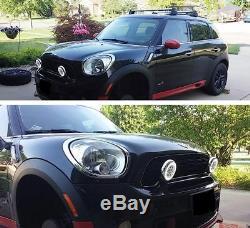 LED DRL Bar Feux Avant Phare Faros antiniebla para pour BMW Mini Cooper Noir
