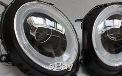 LED béquille phare avant set BMW Mini Cooper R55 R56 R57 Noir Clignotants led