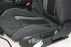 Mini John Cooper Works Sièges Sport Dinamica Tissu Noir de Carbone F56 Rhd