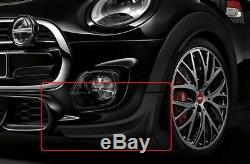 Mini Neuf OEM F55 F56 F57 Jcw Pro avant Pare-Choc Noir Bande Spoiler Set Paire