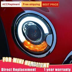 Montage phares pour BMW MINI R56 2007-2012 Bi-xénon lentille projecteur LED DRL
