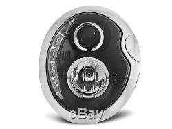 NEUF! Projecteurs Optique Feux Diurnes à LED BMW MINI COOPER R50 R52 R53 Noir FR