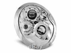 OFFER Pair Headlights BMW MINI COOPER R50 R52 R53 01-06 Halo Rims Chrome FR LPMC