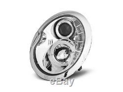 OFFER Pair Headlights LED DRL Look BMW MINI COOPER R50 R52 R53 Daylight Chrome F
