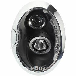 Phare avant Set pour BMW Mini R50/R52/R53 01-06 Verre Transparent/Noir Sonar