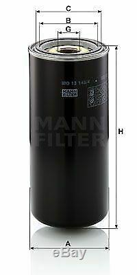 Pour BMW Huile Moteur 11l Mann Filtre à WD 13 145/4 5er E60 F10 F18 E39 X1 F48
