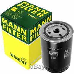 Pour BMW Huile Moteur 11l Mann Filtre à W 940/47 1er E87 F20 E81 4 Gran Coupé