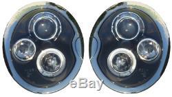 Pour BMW Mini 01-04 R50 R53 Noir Led Halo Ange Oeil Phare avant Éclairage
