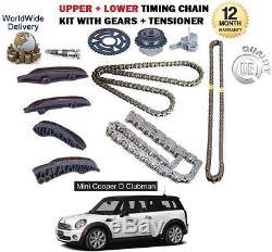 Pour BMW Mini Clubman One D 1.6 Diesel R55 2010 Upper + Kit Chaîne Timing Bas