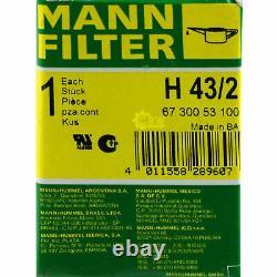 Pour BMW huile moteur 5l Mann Filtre H 43/2 3er Touring E91 E46 E30 2 Cabriolet