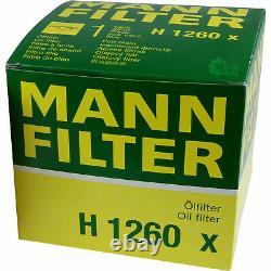 Pour BMW huile moteur 6l Mann Filtre à H 1260 X X3 E83 F25 X6 E71 E72 F16 F86 Z3