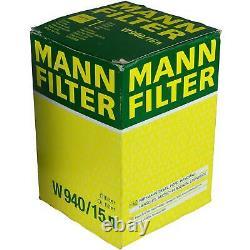 Pour BMW huile moteur 6l Mann Filtre à W 940/15 N 8er E31 3er Cabriolet E93 E46