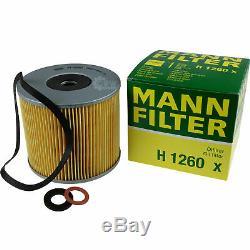 Pour BMW huile moteur 7l Mann Filtre H 1260 X 5er Gran Turismo F07 3er Coupé E36