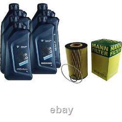 Pour BMW huile moteur 7l Mann Filtre à Hu 12 122 x 4 Gran Coupé F36 5er Turismo