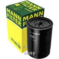 Pour BMW huile moteur 7l Mann Filtre à Huile W 1145/80 5er E39 F10 F18 E34 3er