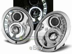 Scheinwerfer LED Tagfahrlicht Optik BMW MINI COOPER R50 R52 R53 Chrom FR LPMC03E