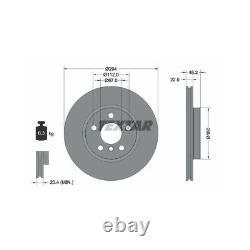 Textar Disques de Frein 294mm + Plaquettes Avant BMW 2er X2 F45 F46 Mini F54-F57