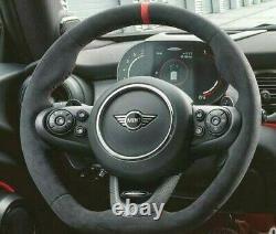 Véritable BMW Mini Jcw Noir Rouge Alcantara Direction Roue (pour Manuel Vitesse)