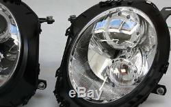 Verre Clair Chrome Phare avant Set LED Angel Eyes Anneaux Lumière de Parking BMW