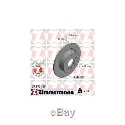 Zimmermann Disques de Frein + Plaquette Arrière BMW 2er i3 X1 X2 Mini Clubman